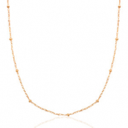 Stainless steel necklaces ball Mix&Match Rose Gold
