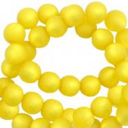 Super Polaris beads round 8 mm matt Empire Yellow