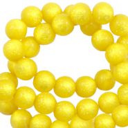 Super Polaris beads round 8 mm shiny Empire Yellow