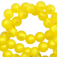 Polaris beads round 6 mm pearl shine Empire Yellow