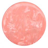 35 mm flat Polaris Elements cabochon Lively Burnt Coral Pink
