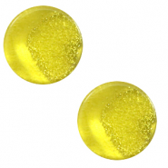 12 mm flat Polaris Elements cabochon Stardust Empire Yellow