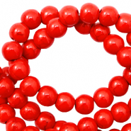 Beads Ceramic 8mm Scarlet Red