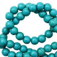 Beads Ceramic 6mm Petrol Green