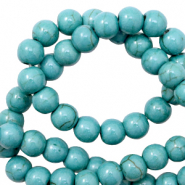 Beads Ceramic 6mm Ocean Blue