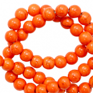 Beads Ceramic 6mm Persimmon Orange