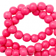 Beads Ceramic 6mm Carmine Rose