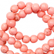 Beads Ceramic 6mm Rose Peach