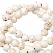Beads Ceramic 6mm Off White