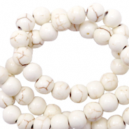 Beads Ceramic 6mm White