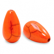 Beads Ceramic drop Persimmon Orange