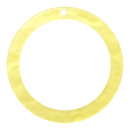Resin pendants round 35mm Sunshine Yellow