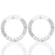 Trendy earrings open circle 41mm Silver (nickel free)