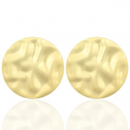 Trendy earrings circle 35mm matt Gold (nickel free)