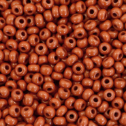 Preciosa glass seed beads 8/0-13600 Natural Opaque-Ssequoia Brown