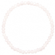 Top faceted bracelets 4x3mm Light Lavender Pink Opal-Pearl Shine Coating