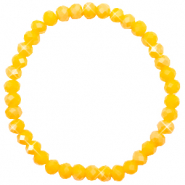 Top faceted bracelets 6x4mm Freesia Yellow Opal-Pearl Shine Coating