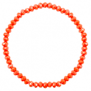 Top faceted bracelets 4x3mm Coral Orange-Pearl Shine Coating