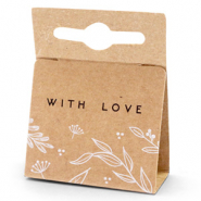 Jewellery cards 'with love' Floral Brown