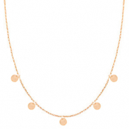 Stainless steel necklaces coins Rose Gold