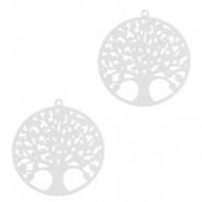 Bohemian charms tree of life 15mm Silver (nickel free)