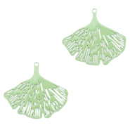 Bohemian charms Ginkgo leaf Meadow Green (nickel free)