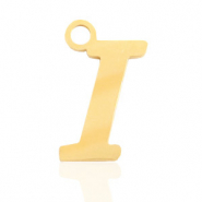 Stainless steel charms initial I Gold