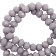 Top faceted beads 8x6mm disc Light Anthracite-Pearl Shine Coating