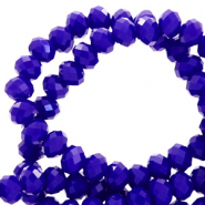 Top faceted beads 8x6mm disc Dazzling Blue-Pearl Shine Coating