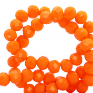 Top faceted beads 6x4mm disc Emberglow Orange-Pearl Shine Coating