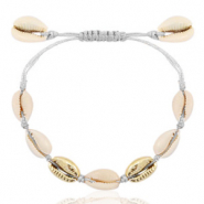 Ready-made Bracelets Cowrie Grey-Gold