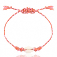 Ready-made Bracelets Cowrie Pink Mix