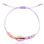 Ready-made Bracelets Cowrie Lavender Purple-Half Gold