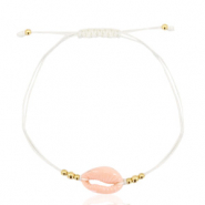 Ready-made Bracelets Cowrie Off White-Gold