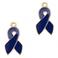 Metal charms ribbon Gold-Dark Blue