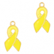 Metal charms ribbon Gold-Yellow