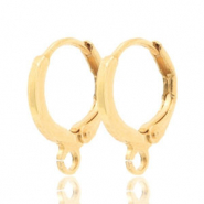 Earrings closable 1 loop 12mm Gold