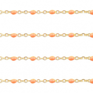 Stainless steel findings belcher chain 1mm Orange-Gold