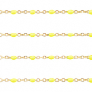 Stainless steel findings belcher chain 1mm Yellow-Gold