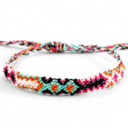 Ready-made Bracelets/Anklets Brazilian style| One size fits all| Economy pack Multicolour Orange-Pink