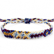 Ready-made Bracelets/Anklets Brazilian style| One size fits all| Economy pack Multicolour White-Blue