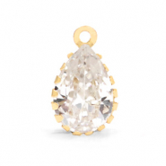 Crystal glass charms drop Crystal-Gold