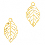 Stainless steel charms leaf Gold