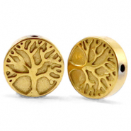 Hematite beads tree of life 10mm Gold