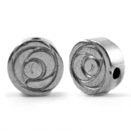 Hematite beads rose 8mm Anthracite Grey