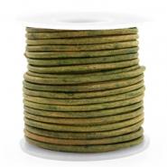 Benefit package DQ leather round 3 mm Vintage Moss Green
