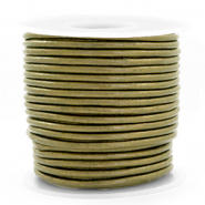 Benefit package DQ leather round 3 mm Olive Green Metallic