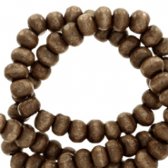 Wooden beads round 8mm Nature Wood-Dark Brown