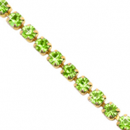 Rhinestone chain Lime Green-Gold