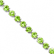 Rhinestone chain Lime Green-Silver